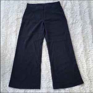 Theory Dark blue/black bottom flared pants sz4